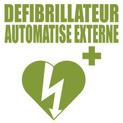 Logo défibrillateur. DAE.