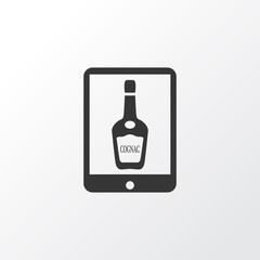 Alcohol icons set with  elite cognac  elements. Isolated vector illustration alcohol icons.