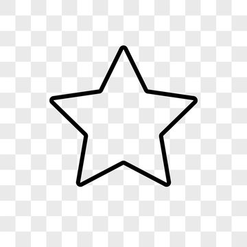 Star vector icon on transparent background, Star icon