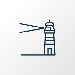 Lighthouse icon line symbol. Premium quality isolated coast element in trendy style.
