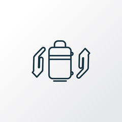 Baggage insurance icon line symbol. Premium quality isolated protect luggage element in trendy style.