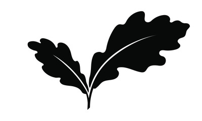 Oak leafs icon isolated on white background. Oak leafs vector logo. Flat design style. Modern vector pictogram for web graphics - stock vector