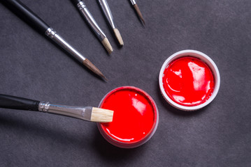 Art Brush Set, Watercolor and Acrylic Artist Paint Brushes
