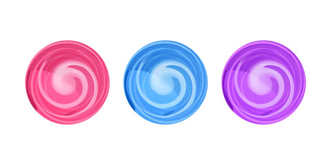 Candy round swirl vector illustration, lollypop icon