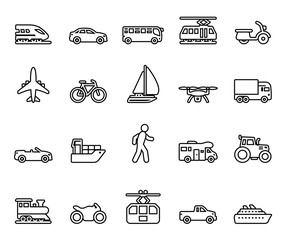Traffic & Mobility - Iconset