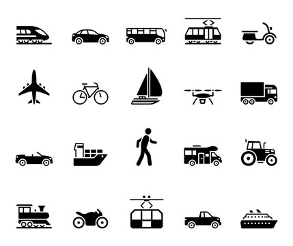 Traffic & Mobility - Iconset