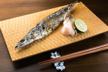 焼き秋刀魚 grilled saury