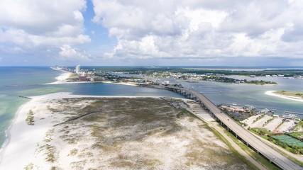 Aerial view of Orange Beach, Alabama & Ono Island