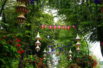 Tivoli Gardens in Copehagen During Summer