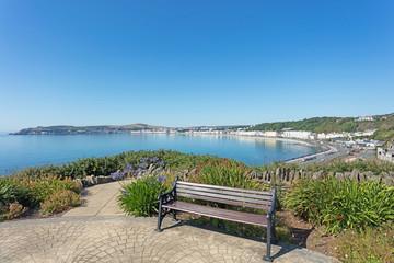 Comfortable seat Onchan Isle of Man overlooking Douglas Bay Isle of Man