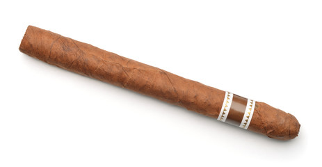 Top view of hand rolled cigar
