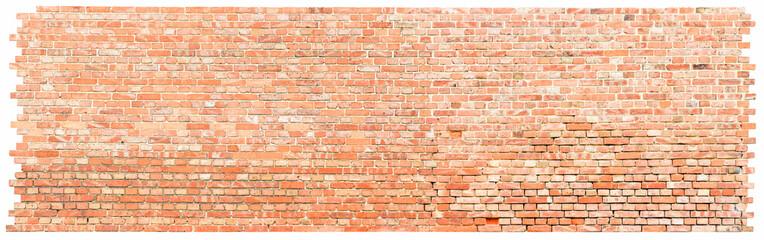 Strukturierte Backsteinmauer - Freisteller