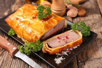 baked beef with dough