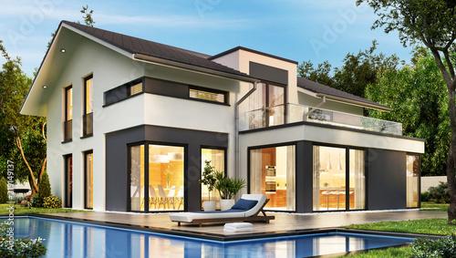 das traumhaus 2 stockfotos und lizenzfreie bilder auf bild 219149137. Black Bedroom Furniture Sets. Home Design Ideas