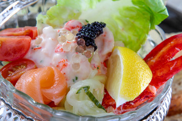healthy mixed seafood appetizer starter