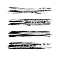 Brush stroke set. Texture. Vector.