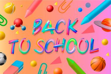 Back to school template, social media community education, vector illustration.