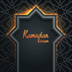 Ramadan Kareem greeting card template islamic vector design with geomteric pattern