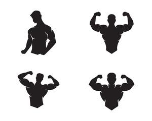 Fitness Logo Design vector illustrationicon