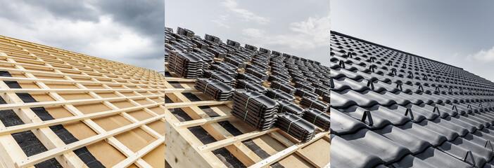 Obraz Neues Dach Vorher Nachher - fototapety do salonu