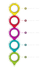 Empty business timeline - layout of colourful infographic. Vector.