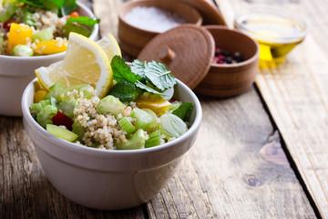 Healthy vegetarian quinoa salad. Buddha bowl