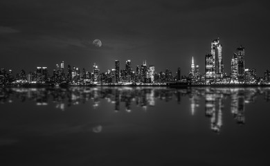 Manhattan Skyline Black and White