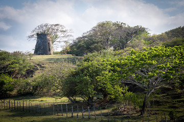 An old sugar mill on an estate in Hanover, Jamaica.