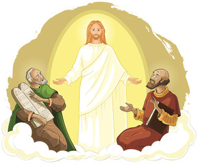 The Transfiguration of Jesus Christ with Elijah and Moses
