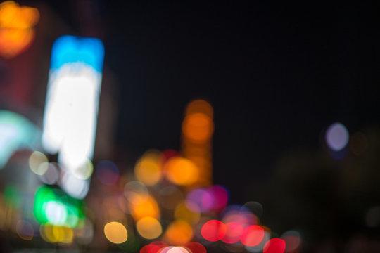 Bokeh - Night time in The Venetian in Las Vegas