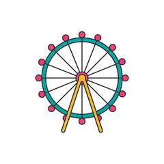 London eye icon, cartoon style