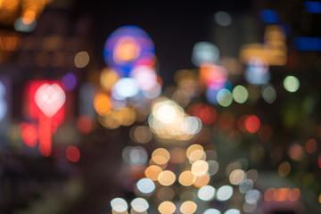 Fotobehang Las Vegas bokeh - night in Las Vegas Strip