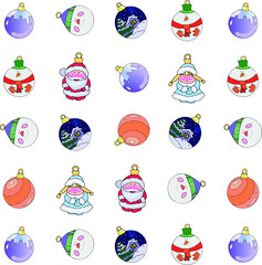 pattern Christmas balls for decoration works with a Christmas theme