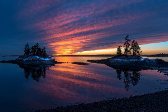 Harpswell Winter Sunset, Maine