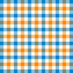 Blue light brown tartan seamless pattern