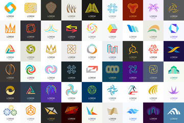 Abstract logos collection. Geometrical abstract logos