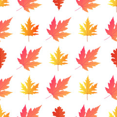 Autumn background. Yellowed maple leaves. Vector illustration.