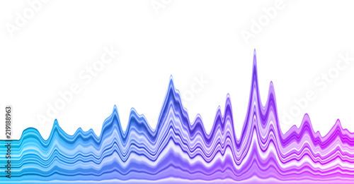 Gradient Chart Statistics Graph Or Oscillation Diagram Stock