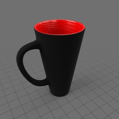 Narrow bottom mug