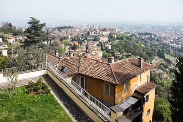 Blick auf Bergamo