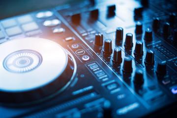 DJ mixer audio sound station