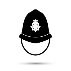 British police helmet icon