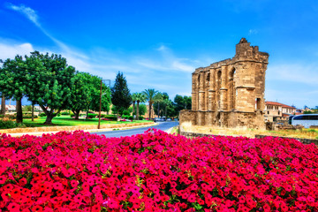 Deurstickers Cyprus Landmarks of Cyprus - ruins of the Church of St John in Famagusta (Gazimagusa)