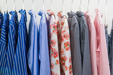 Shirts hanging on the rack