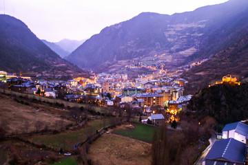Andorra la Vella. Capital de Andorra, pais de los Pirineos