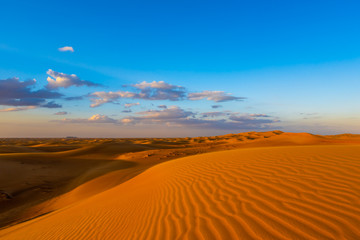 Sand dunes in the desert of Dubai, United Arab Emirates