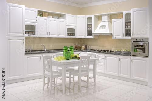 Tavolo E Sedie Per La Cucina.Cucina Con Tavolo E Sedie Centrali Stock Photo And Royalty Free