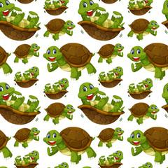 Happy turtle seamless wallpaper