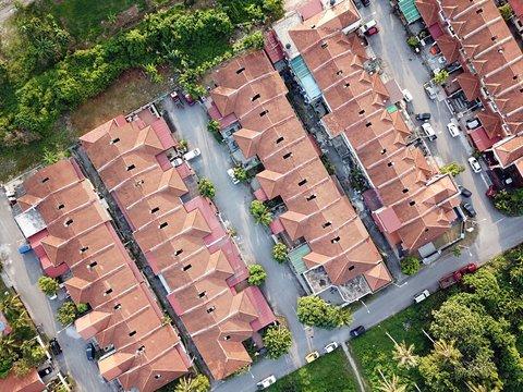 Aerial view of residential area in Selangor.