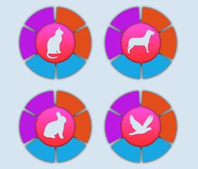 иконки животные